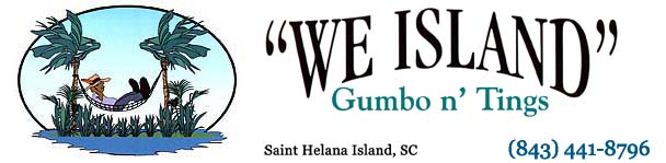 we island gumbo man logo